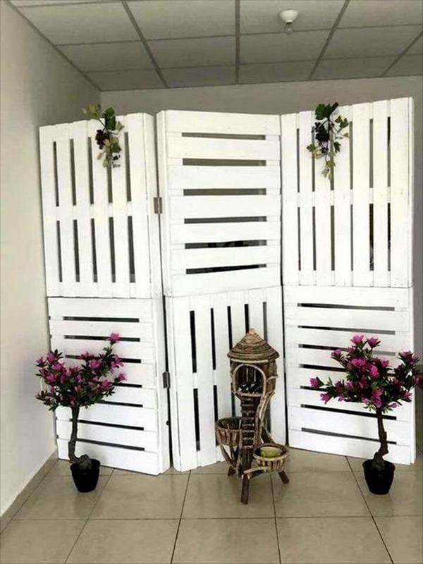 15 DIY Raumteiler, um deinen Raum zu gestalten, zu organisieren und zu erobern - Dekoration Haus Diy #diypalletfurniture