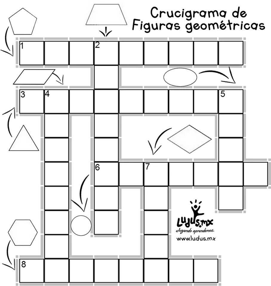 Crucigrama Com Imagens Atividades De Geometria Atividades De