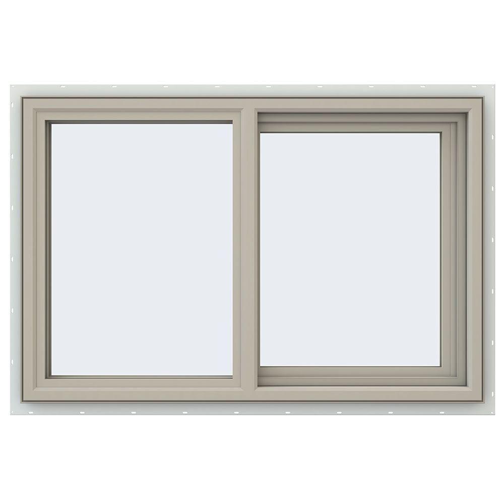 JELD-WEN 35.5 in. x 23.5 in. V-4500 Series Right-Hand Sliding Vinyl Window - Tan