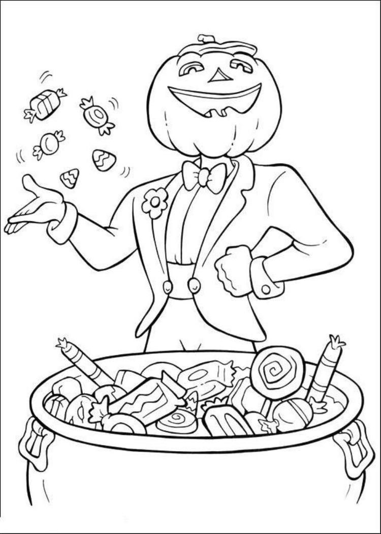 Read Morejack O Lantern And Halloween Candy Coloring Pages Witch