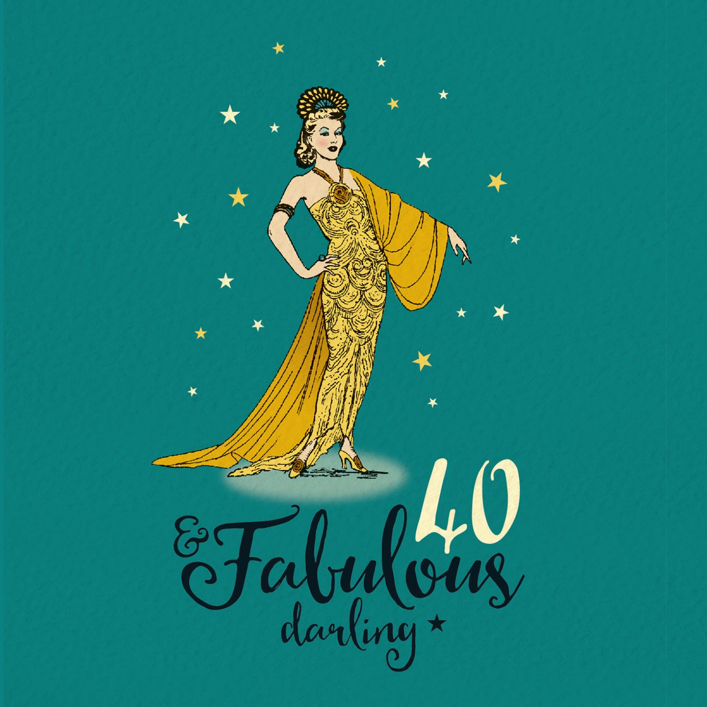 40th birthday card for her fabulous 40 in 2020 40th