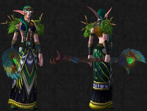 World Of Warcraft Transmog Set Idea Night Elf Druid Wow Starcraft