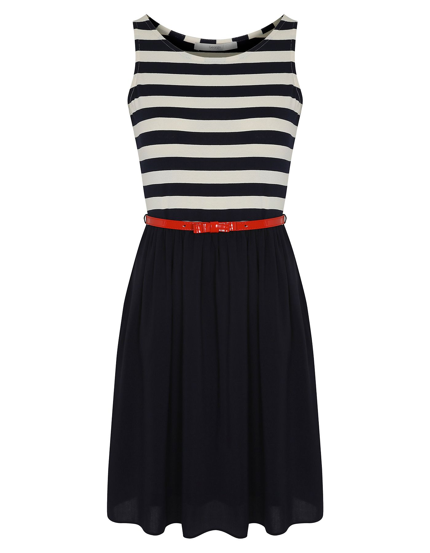 Stripe Skirted Dress | Women | George at ASDA | clothes | Pinterest ...