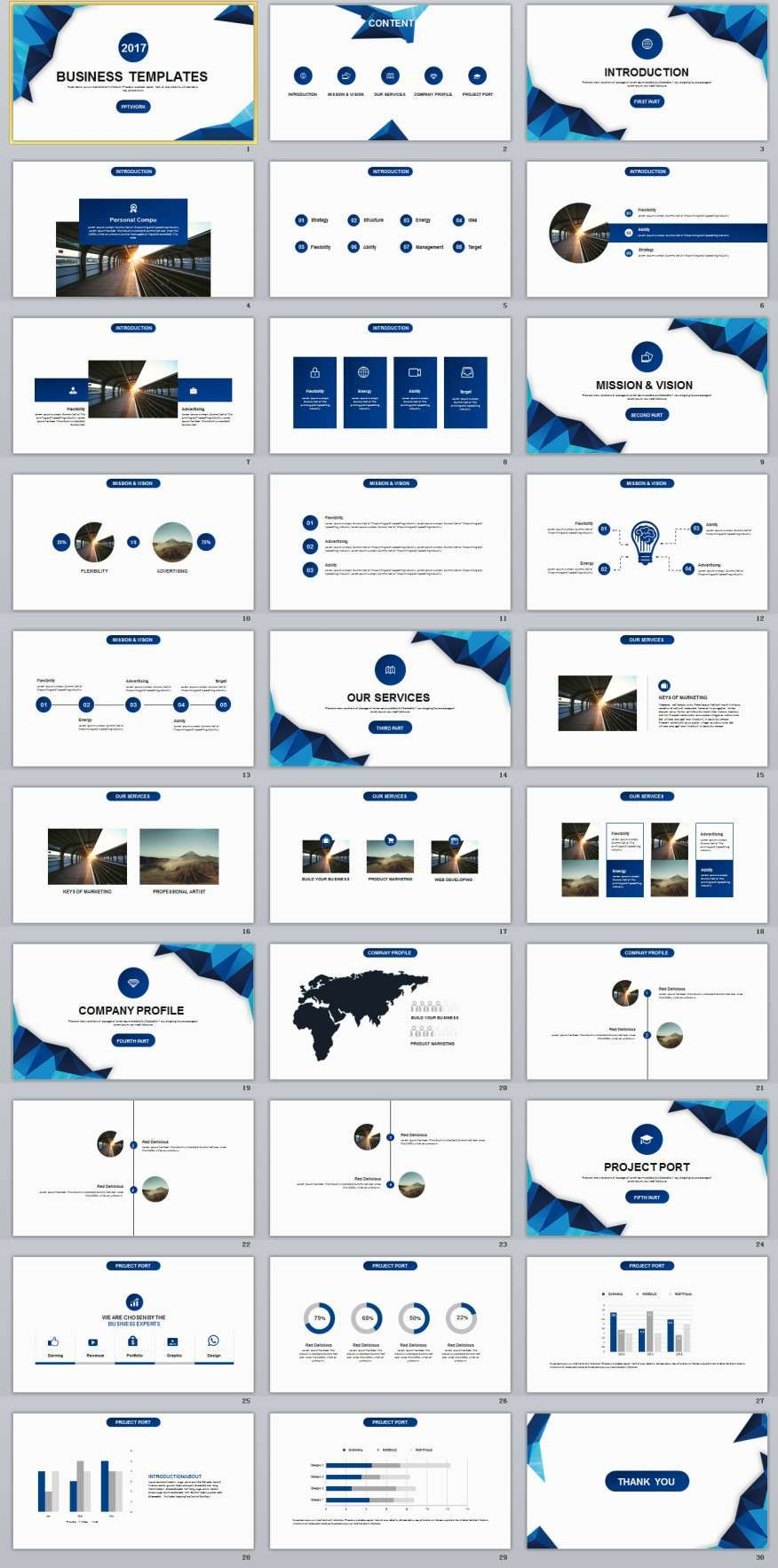 30+ Blue Business plan presentation PowerPoint templates | 2018 ...