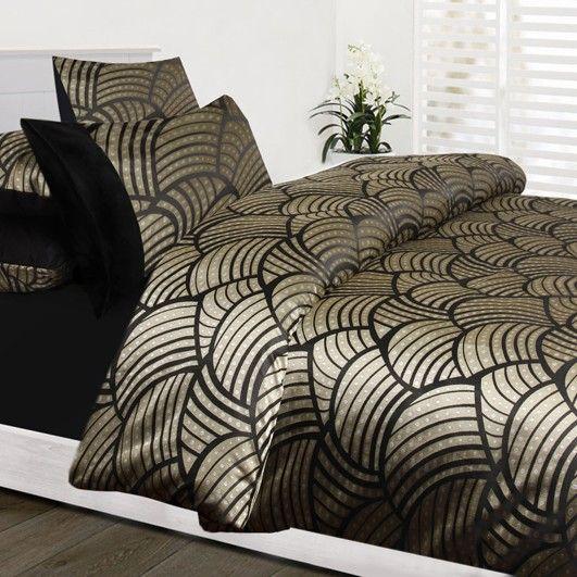 black gold jacquard queen king super quilt duvet cover set covers size