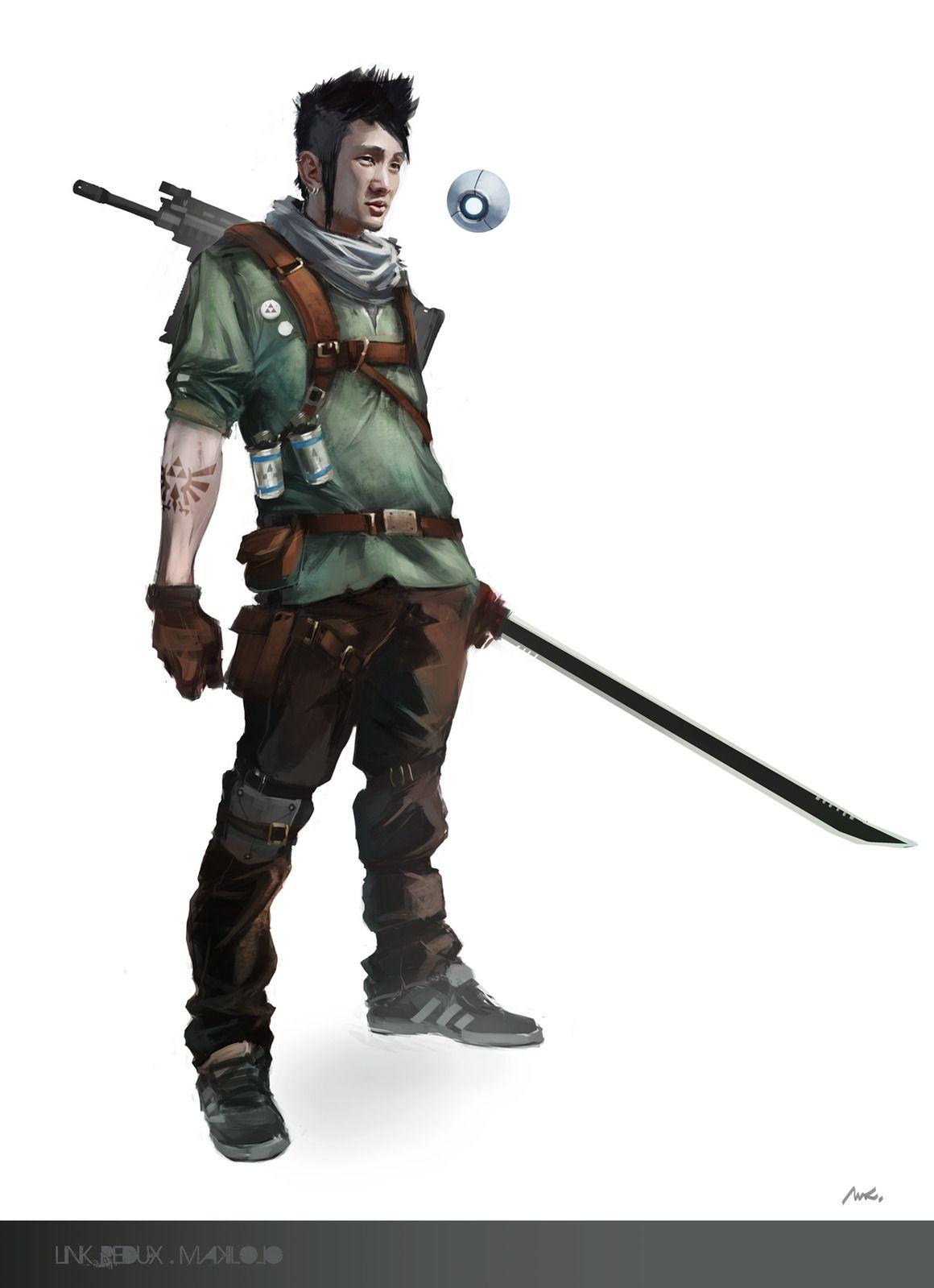 """Mark Swiffcarouse Si fa chiamare """"Link"""" avventuriero, fissato con The Legend of Zelda, cerca di trovare tutti i titoli rimasti e le console pr giocarci. Ovviamente è un compito parecchi arduo...  link redux #character  #Shadowrun #Drone #Warrior #Explorer"""