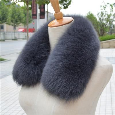 100% Real Fox Fur Scarf- Womens Fox Fur Collar Ring Scarf- Genuine Natural Fox Multi-Color Scarf