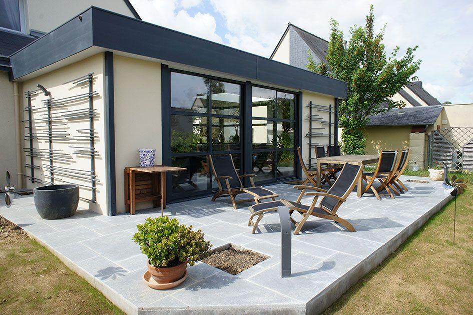 id e v randa maison veranda extension maison et id es v randa. Black Bedroom Furniture Sets. Home Design Ideas