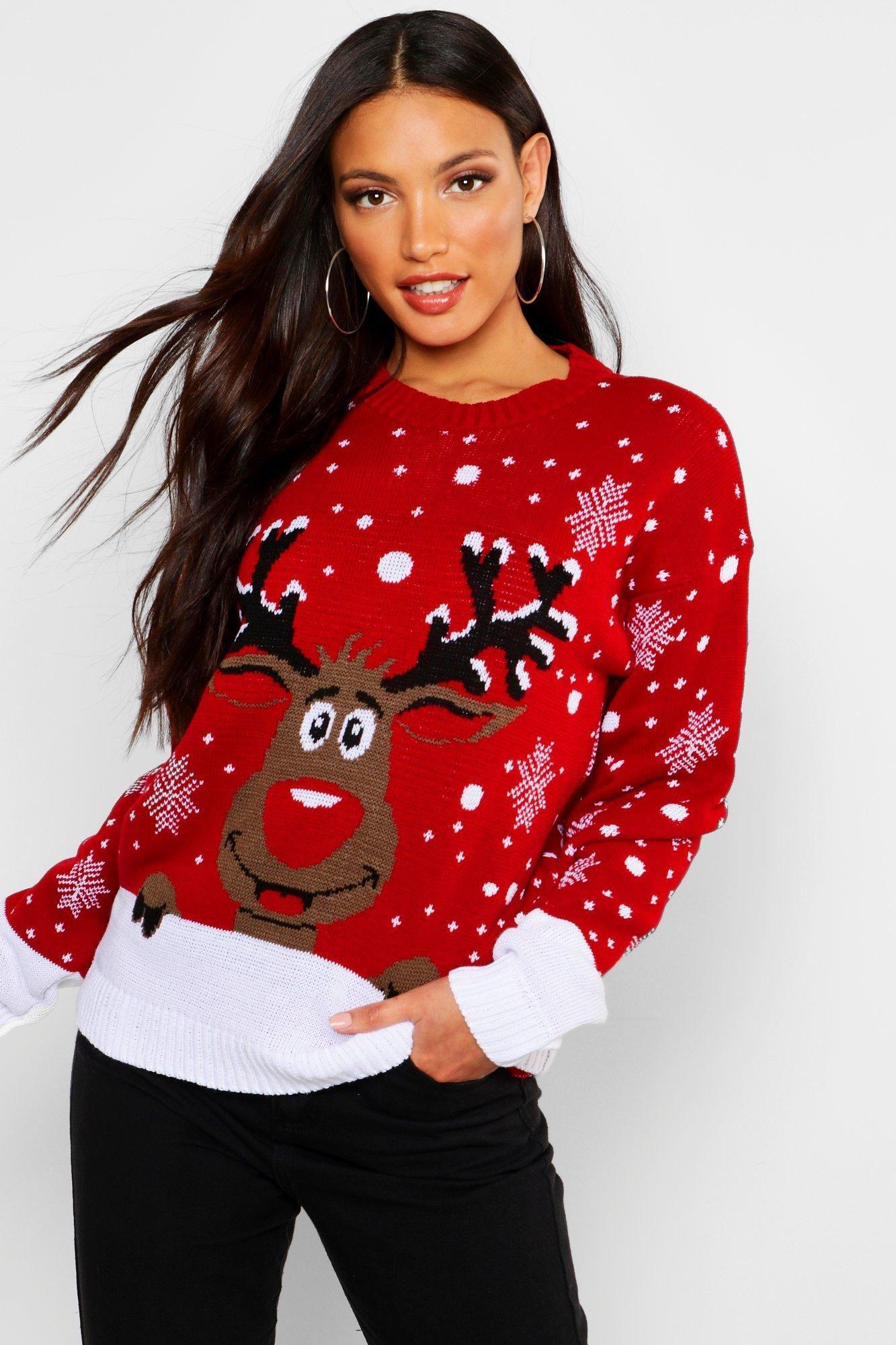 Reindeer Christmas Sweater | Boohoo #reindeerchristmas