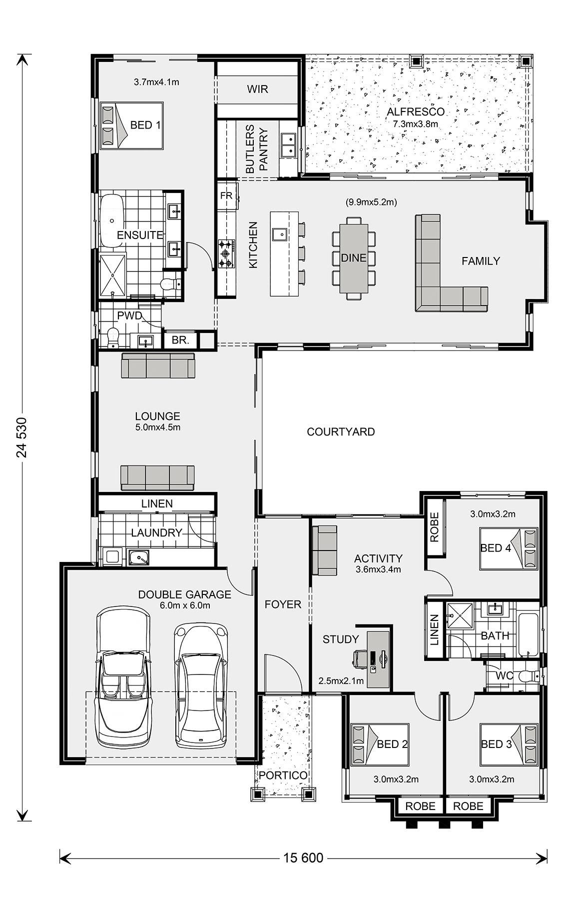 Pin By Gavin Flett On House Plans With Images Home Design Floor Plans Courtyard House Plans