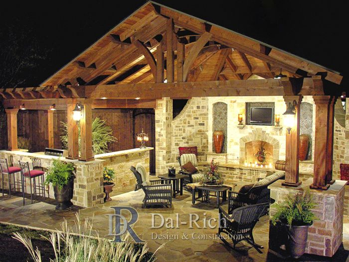 Dallas landscape architects outdoor kitchens fireplaces for Outdoor cooking area and fireplace