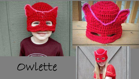 PJ Masks Crocheted Hat  Beanie - Catboy - Gekko - Owlette  db1f04eac4d