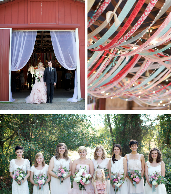 mismatched dresses, ribbon love