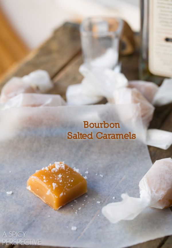 A Spicy Perspective Bourbon Salted Caramel Candy Recipe - A Spicy Perspective @spicyperspectiv
