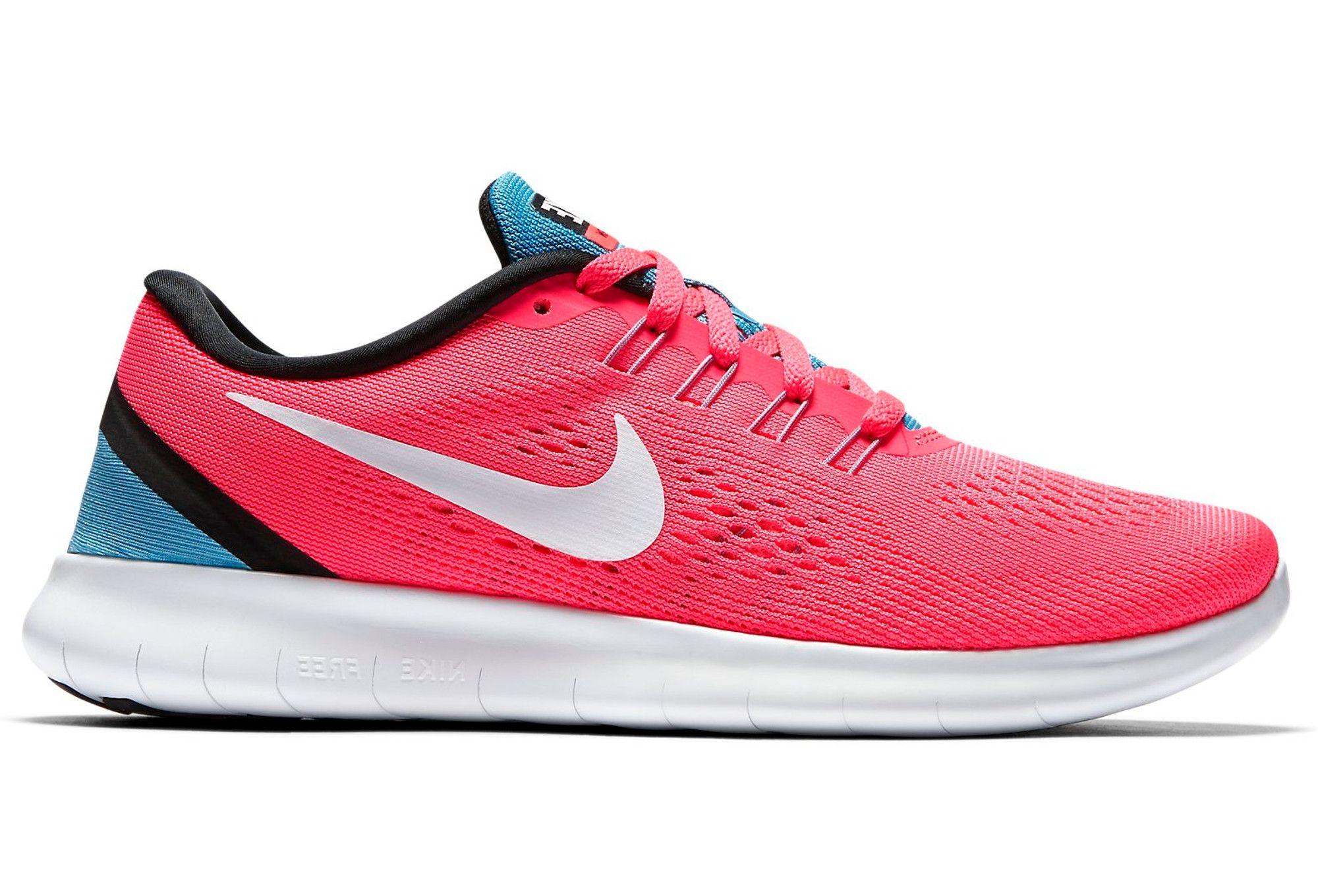 Nike FREE RN Rose Blanc Bleu Femme | Alltricks.fr