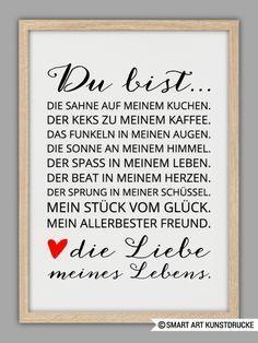 Originaldruck - LIEBE MEINES LEBENS Kunstdruck - ein Designerstück von Smart-Art-Kunstdrucke bei DaWanda #textefürweihnachtskarten