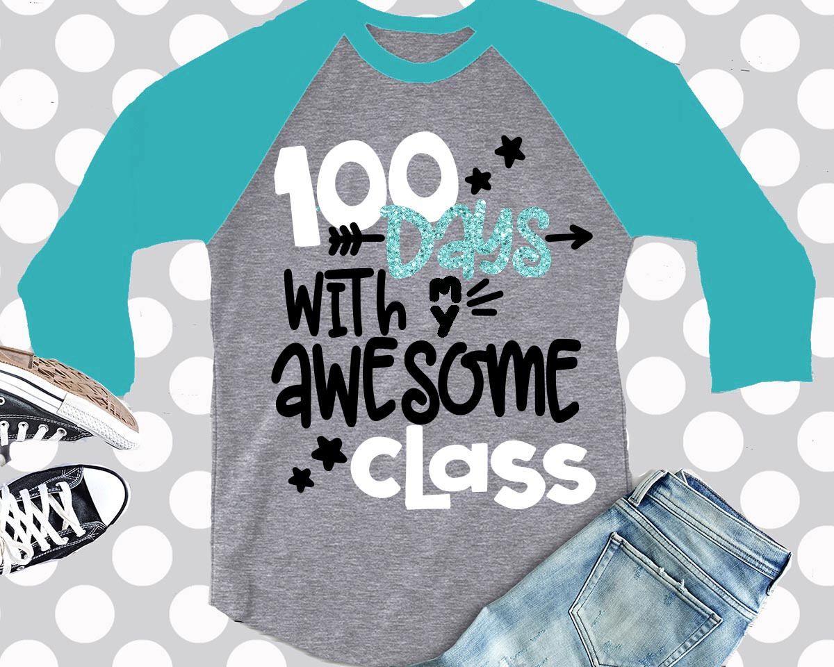 100th Day Of School Svg 100 Days Svg Teacher Crew Svg Teacher