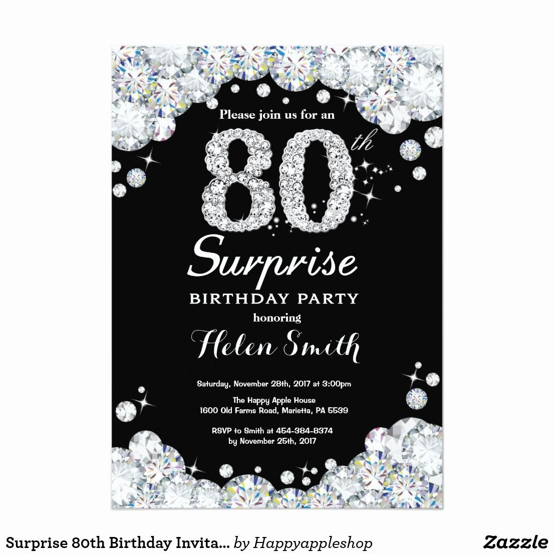 80th Birthday Invitations Fresh Surprise 80th Birthday