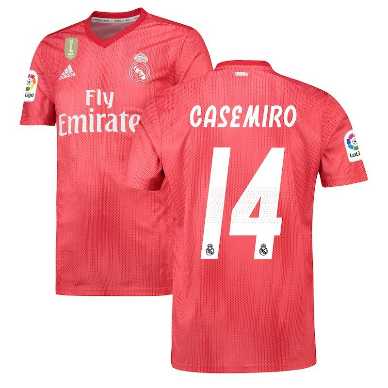 7de5bd2a8 Carlos Casemiro Real Madrid adidas 2018 19 Third Replica Player Jersey – Red
