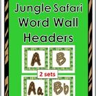 Jungle Safari Theme Classroom Decor Word Wall Headers ...