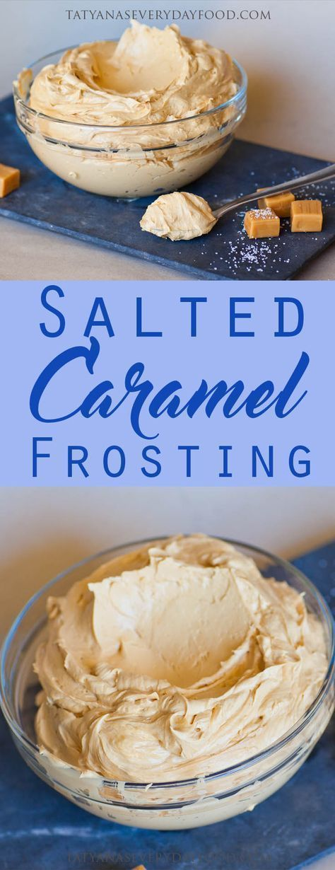 Salted Caramel Frosting (video) - Tatyanas Everyday Food