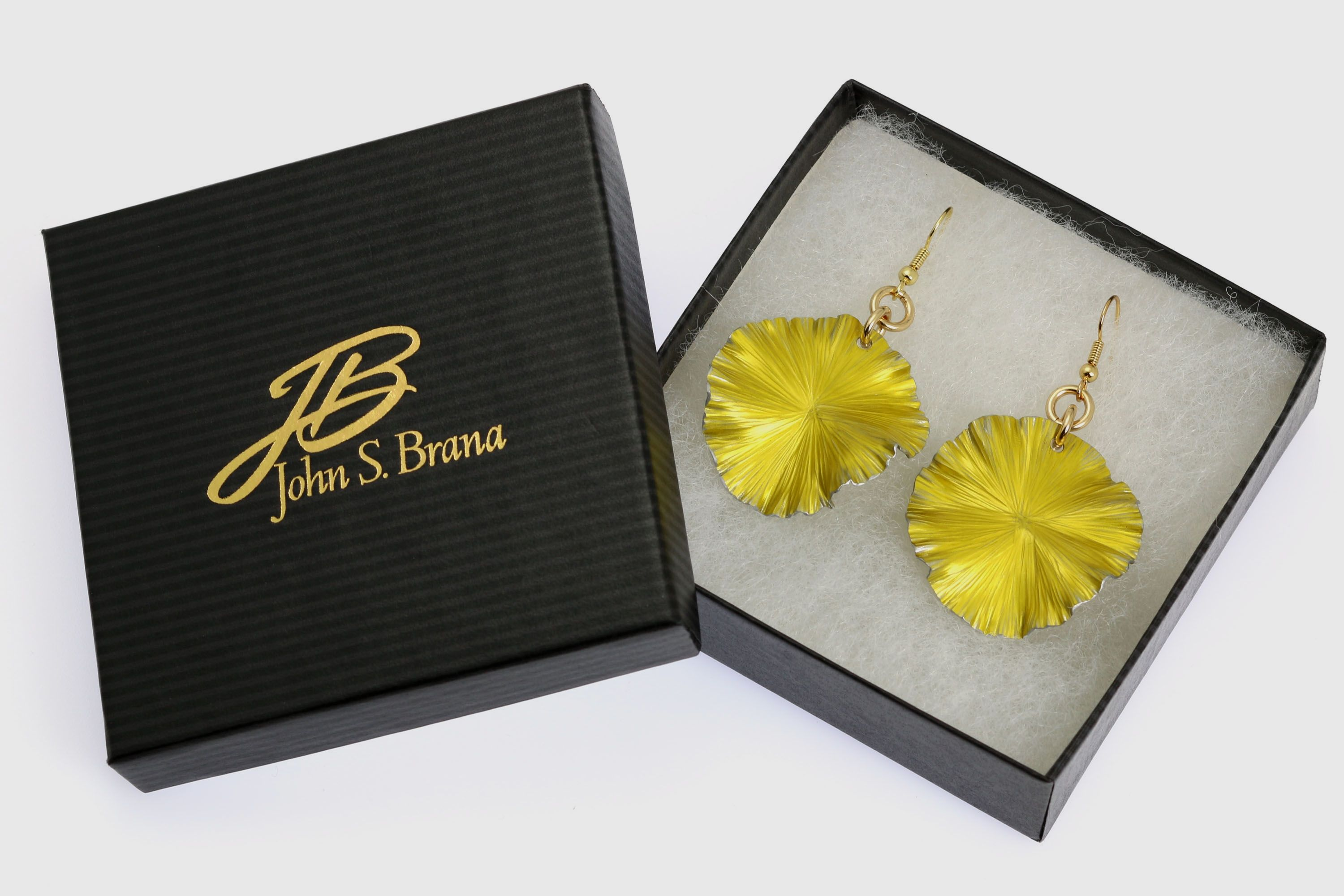 New! Contemporary Yellow Anodized Aluminum Lily Pad Earrings Featured by #Amazon #FreeShipping http://www.amazon.com/dp/B00HRGVZJU