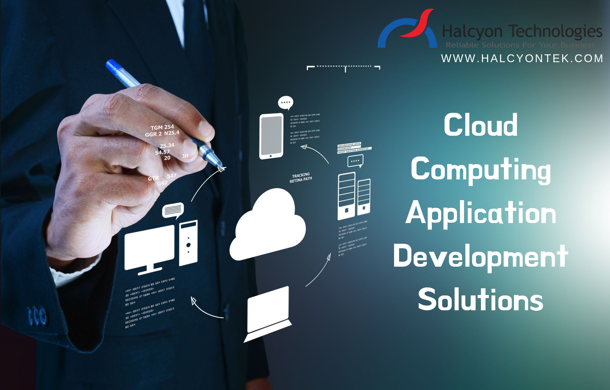 Flexible Cloud Deployment Services For All Your Business Needs Halcyon Techn Cloud Computing Applications Software Development Mobile Application Development