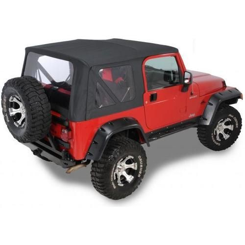 Quadratop Replacement Soft Top With Upper Doors Clear Windows For 97 06 Jeep Wrangler Tj Jeep Wrangler Jeep Wrangler Soft Top Jeep Wrangler Tj
