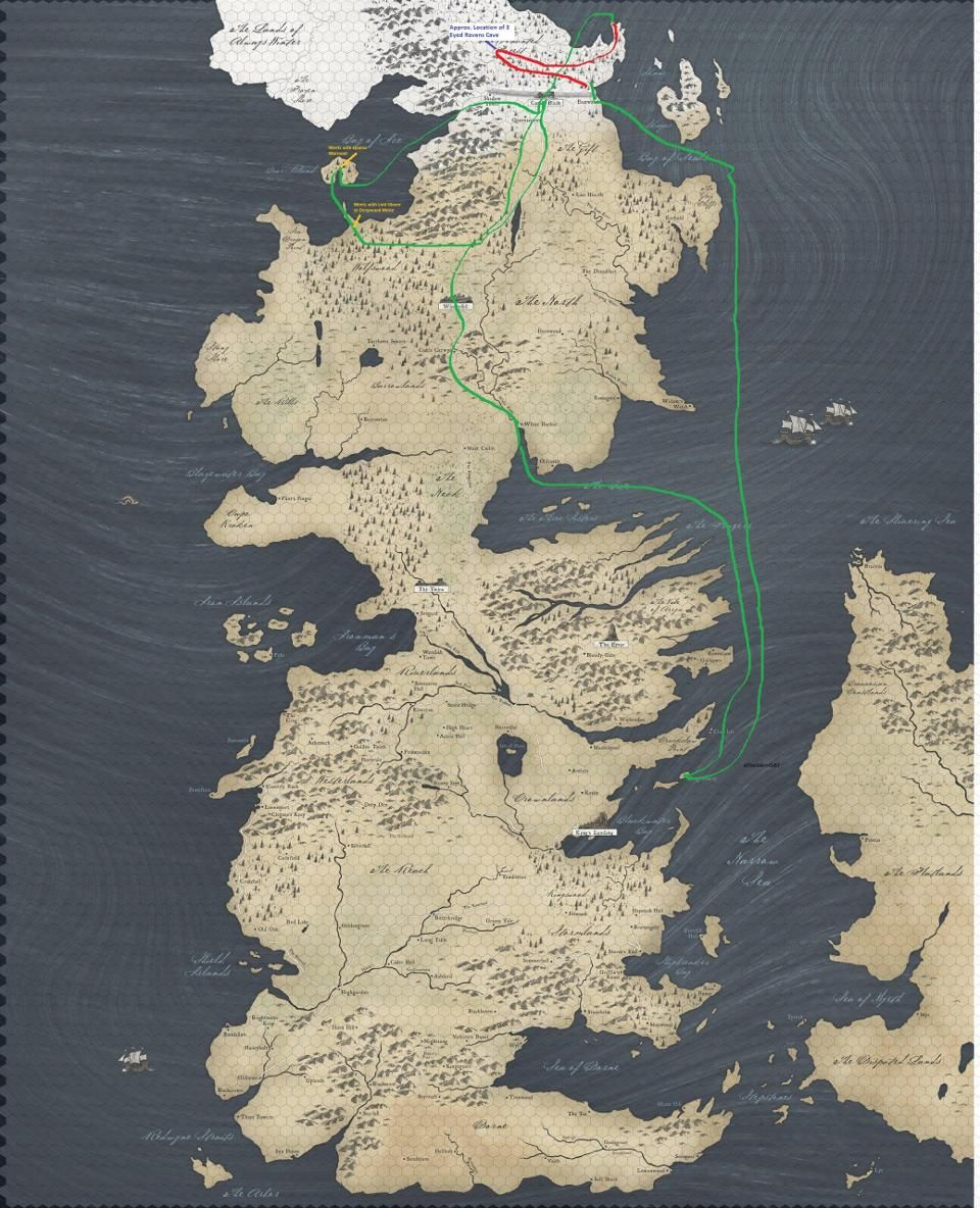 This \'Game Of Thrones\' Map Showing Jon Snow\'s Travels Vs The White ...