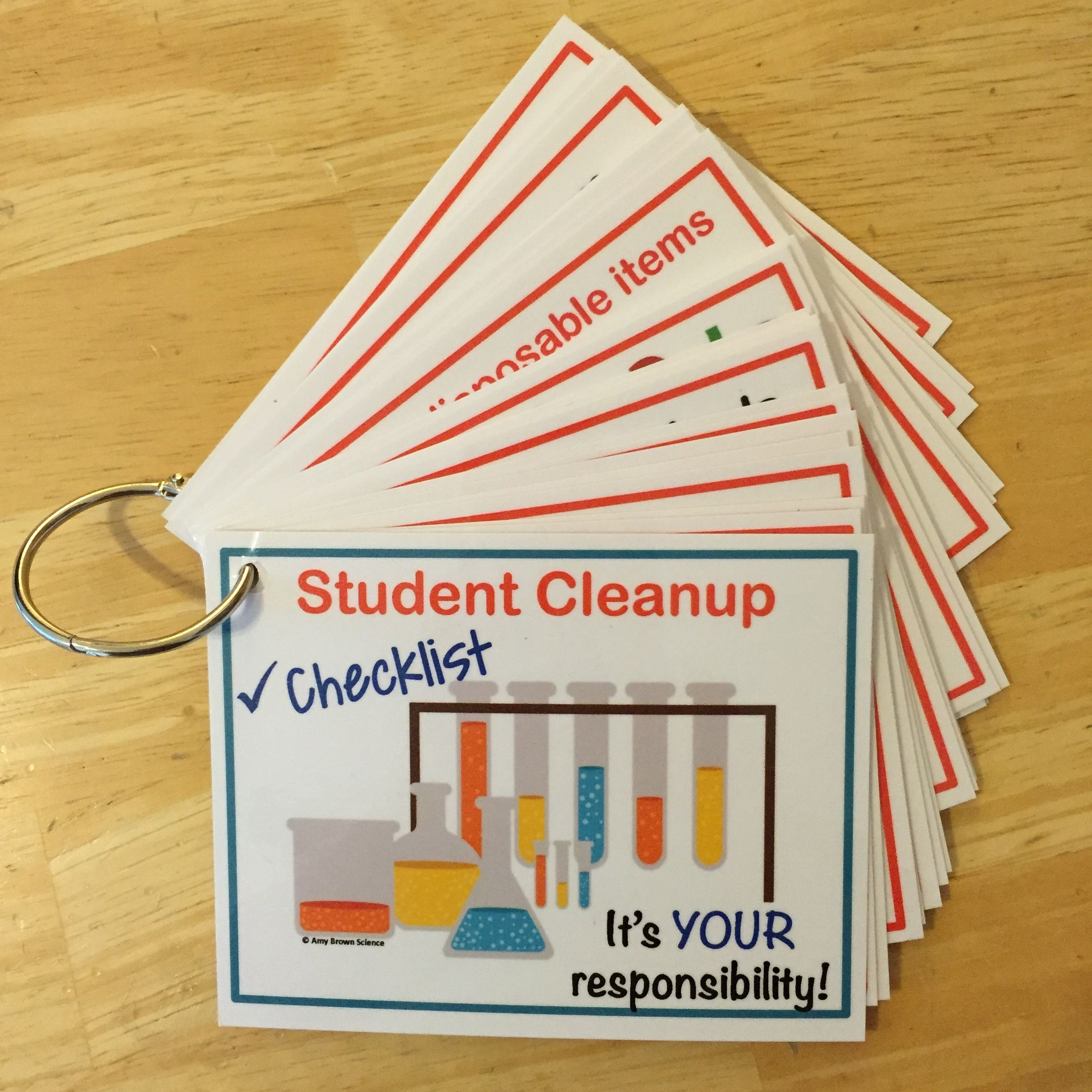 Lab Cleanup Task Cards