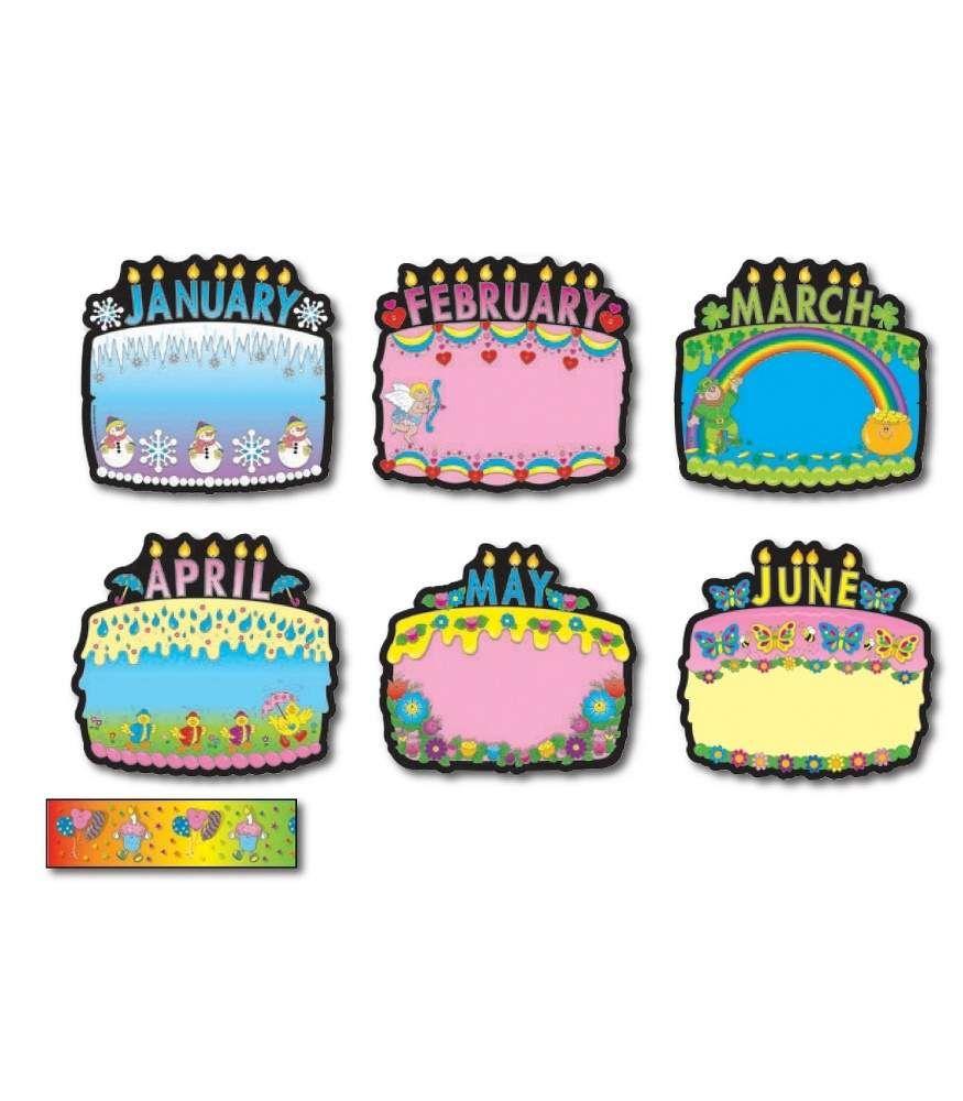 Birthday Cakes Bulletin Board Set Ehs Classroom Pinterest