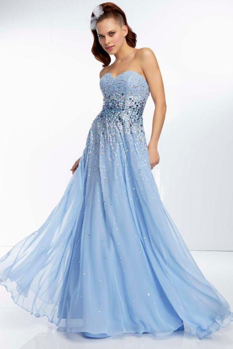 sweetheart beaded bodice a line long chiffon prom dress flowing
