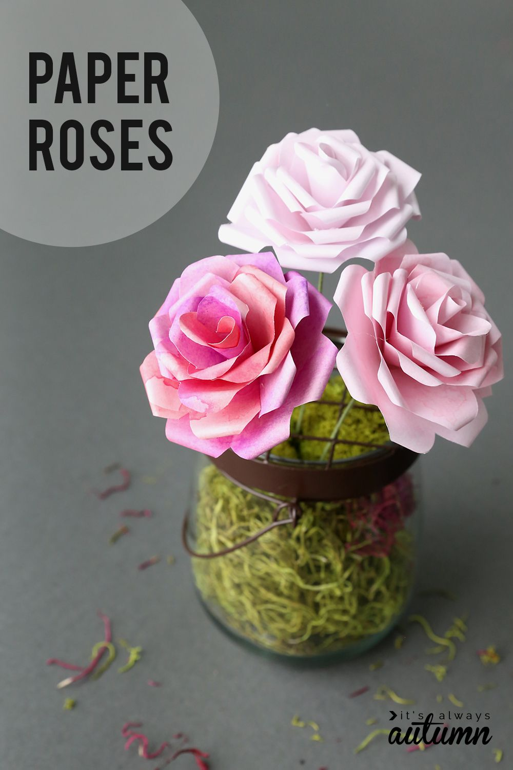 Make Gorgeous Paper Roses With This Free Paper Rose Template Paper