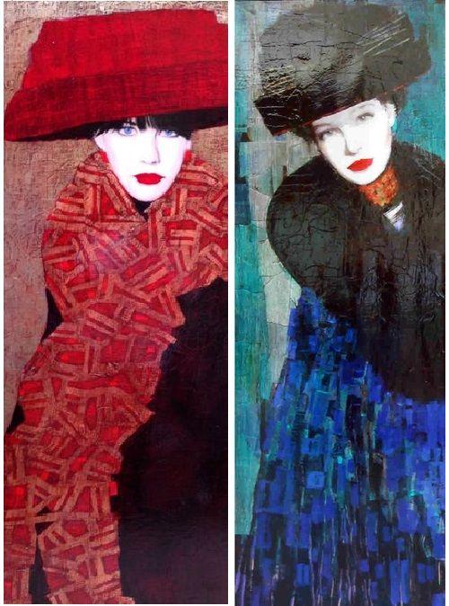 Paintings by Richard Burlet.