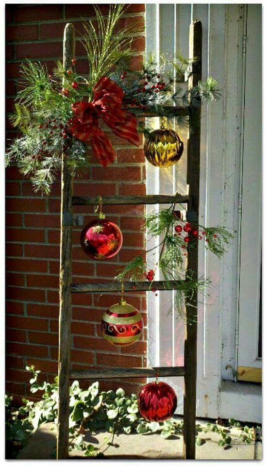 Recycled LaddarFestive Ladder Christmas Pinterest Holidays