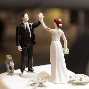 High Fives Wedding Cake Topper