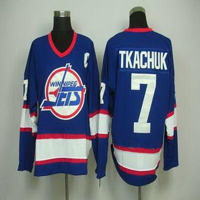 pretty nice 504af ded76 NHL Winnipeg Jets CCM Jersey #7 Keith Tkachuk Blue Vintage ...