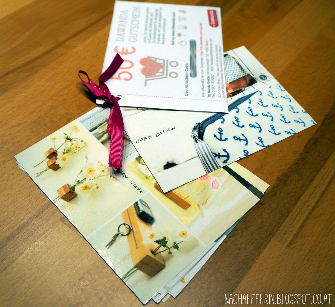 Geschenkidee: Dawanda-Gutschein mit Mini-Produktkatalog