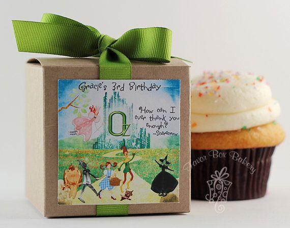 YELLOW BRICK ROAD One Dozen Personalized Cupcake by FavorBoxBakery