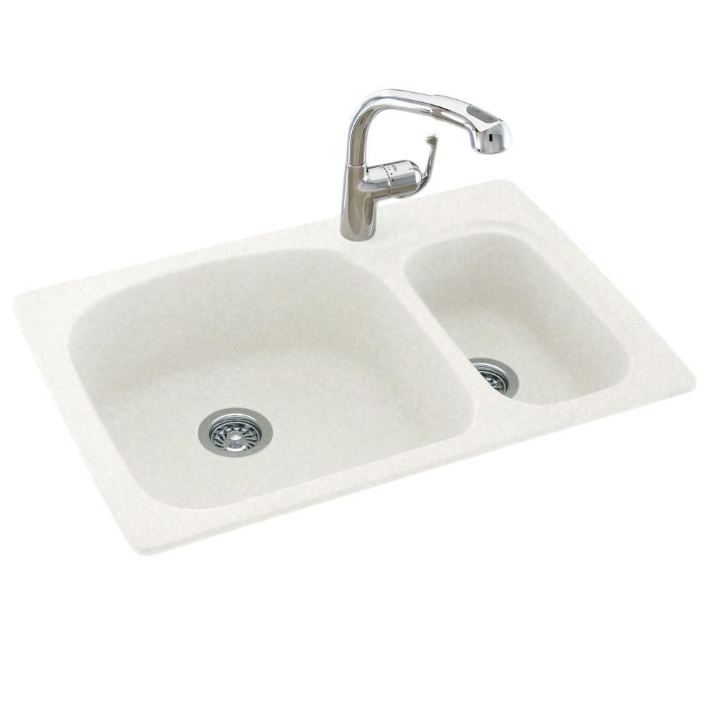 Swan Drop In Undermount Solid Surface 33 In 1 Hole 70 30 Double Bowl Kitchen Sink In White Swan Drop In Undermount Solid S Dekoration Diy Dekoration Geschenke