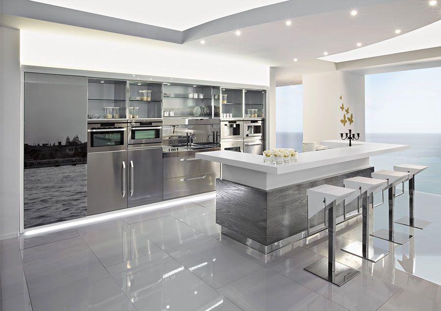 28 Cucine In Acciaio Inox Moderne Mondodesign It Decoracion De Cocina Moderna Diseno De Cocina De Lujo Diseno Muebles De Cocina