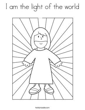 I am the light of the world Coloring Page | Bible coloring ...