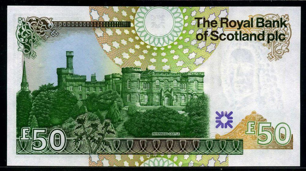 Scotland Money Royal Bank Of Scotland Currency Scottish Bank Notes 50 Pounds Sterling Scotland Royal Bank Bank Notes
