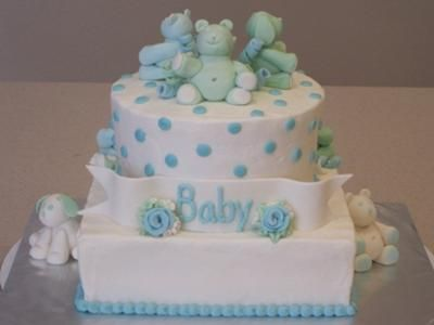 Teddy Bear Baby Shower Cake Teddy Bear Baby Shower Projects To