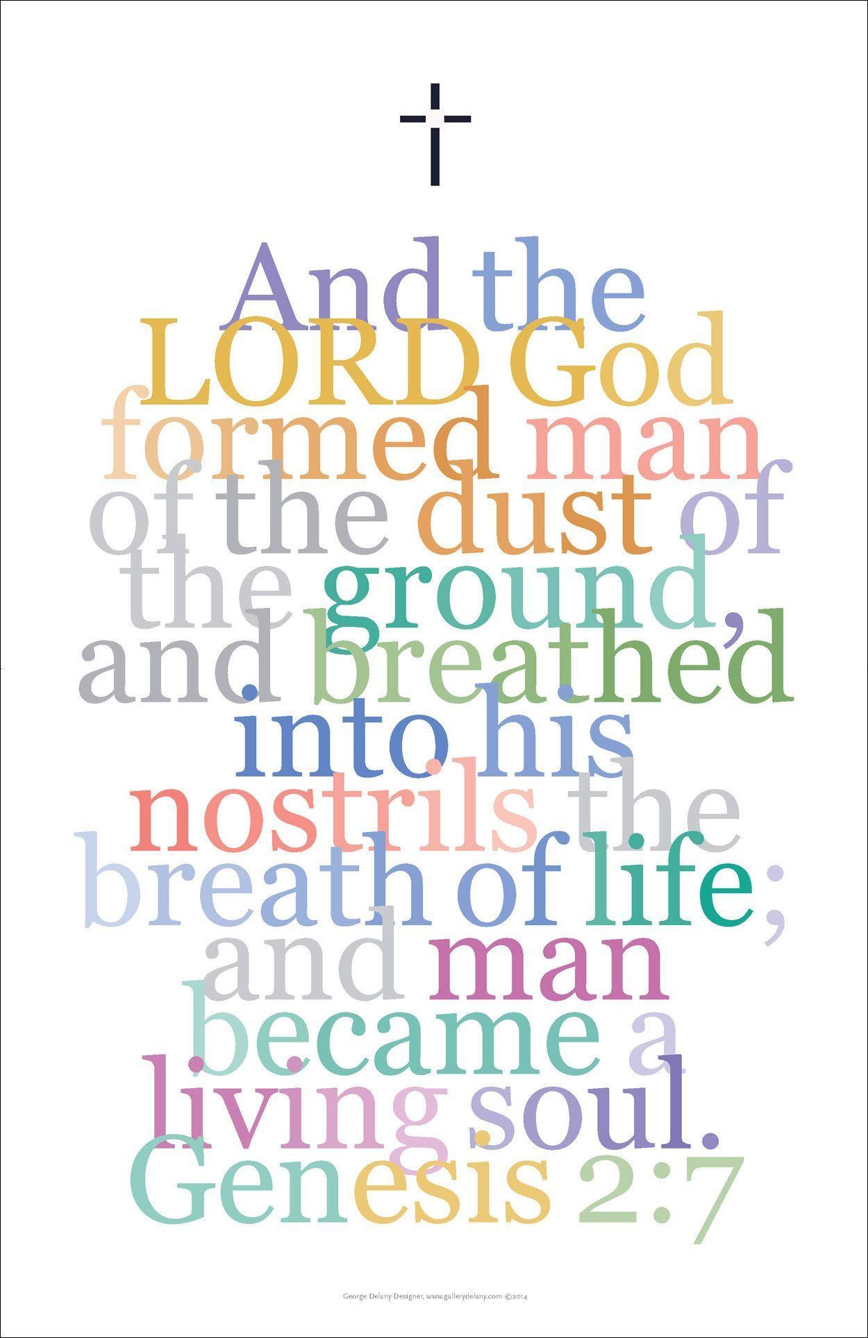 "Bible Digital Art Print #17, Genesis 2:7. ""And the Lord ..."