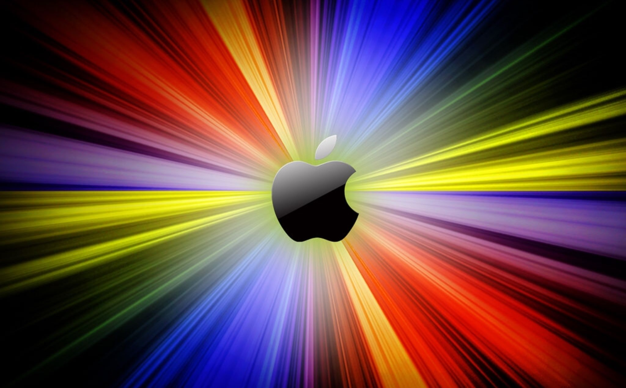 Glowing Apple Wallpaper (With images) Apple logo