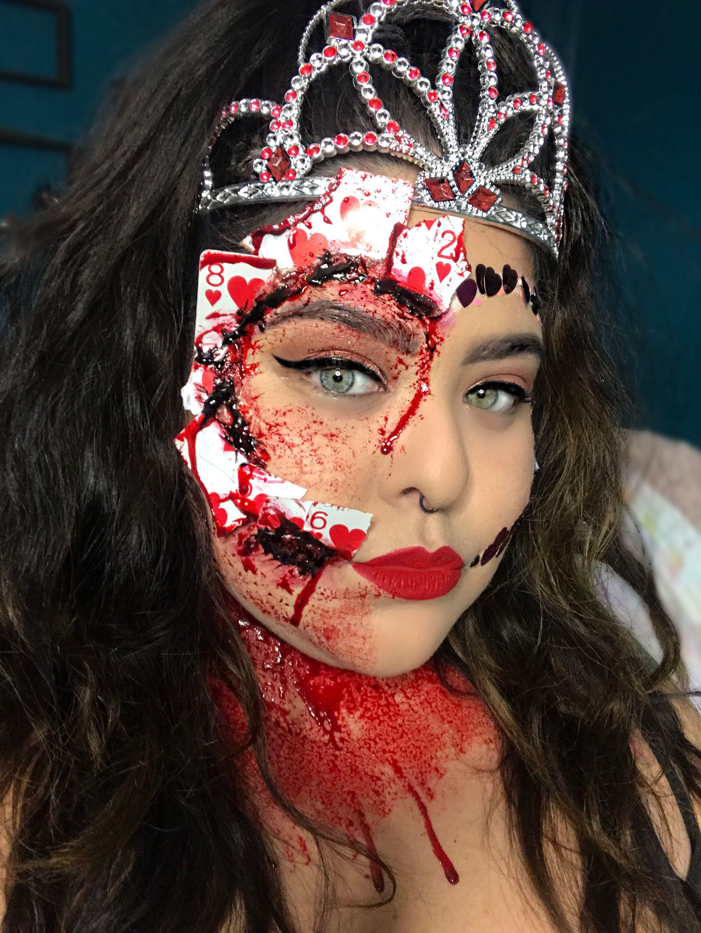 Halloween 2020 Special Effects Makeup Queen of hearts Halloween makeup | Queen of hearts halloween