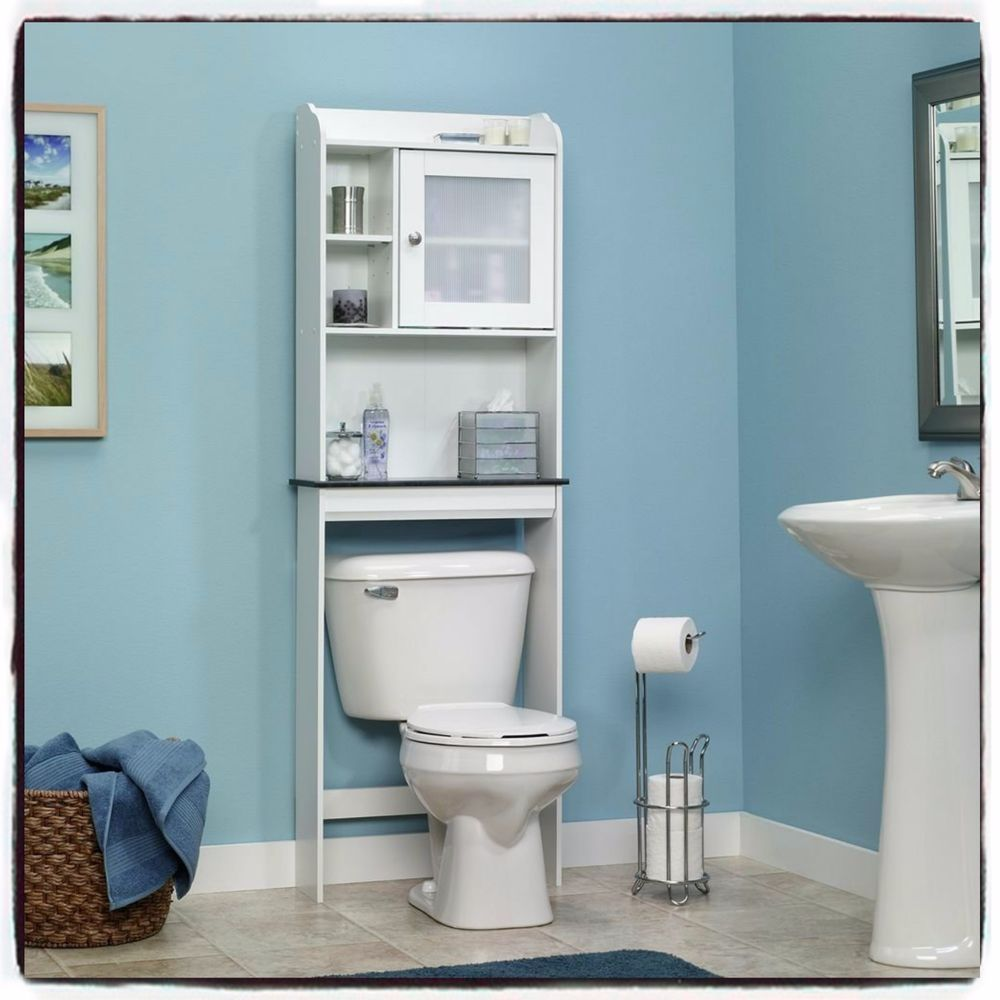 Over The Toilet Bath Cabinet Furniture Bathroom Storage Space Saver White New #BathCabinet
