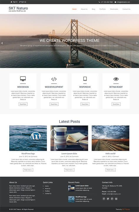 Clean Minimal free WordPress theme #Clean #minimal #WordPress ...