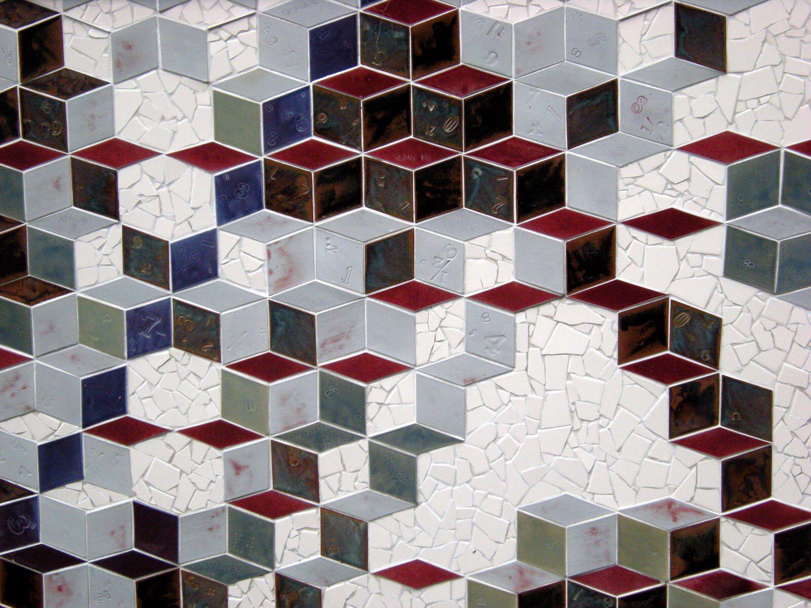 Tessellation Tango Wall Mural Mathematical Sciences Research Institute Berkeley Ca Mosaic Tile Designs Family Sculpture Mosaic